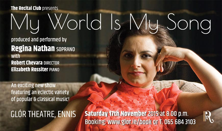 My World is My Song, Glór Theatre, Ennis, Saturday 17th October 2015